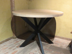 tafel rond - eik + metaal.JPG