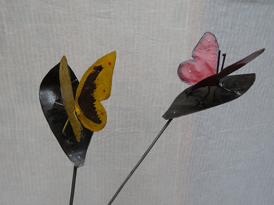 vlinder op stok