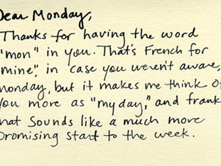 OK Monday lets do this!