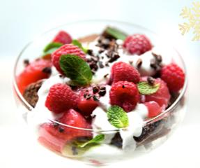 Delicious RedBeanChoc Trifle