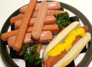 Sausage skins: dissolved, homogenized cowhides