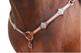 Turquoise Stones Western Breastplate