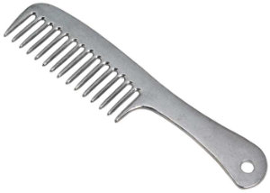 Aluminium Mane Comb With Handle