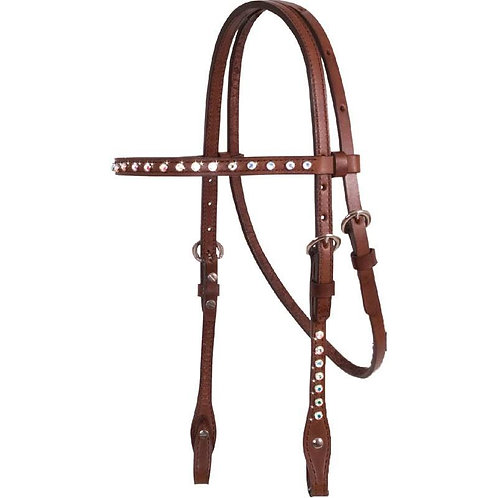 Western Traditions Straight Browband Headstall with Crystals