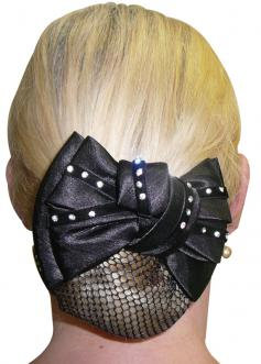 DIAMONTES ON VELVET SHOW BOW & HAIR NET