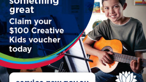 Tipitina Music now accepts  Creative Kids Vouchers