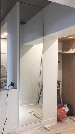 Зеркальные двери триплекс