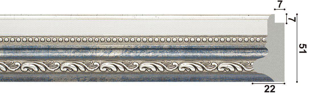 арт.1268-PB, голубой,патина
