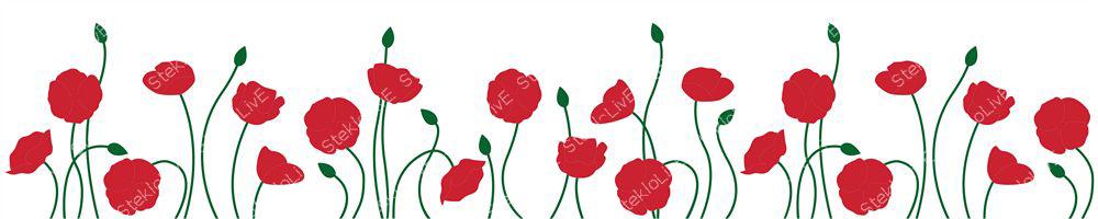 Кухонный фартук цветы 097