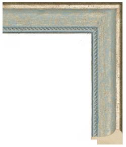 арт.1240-126, голубой с золотом