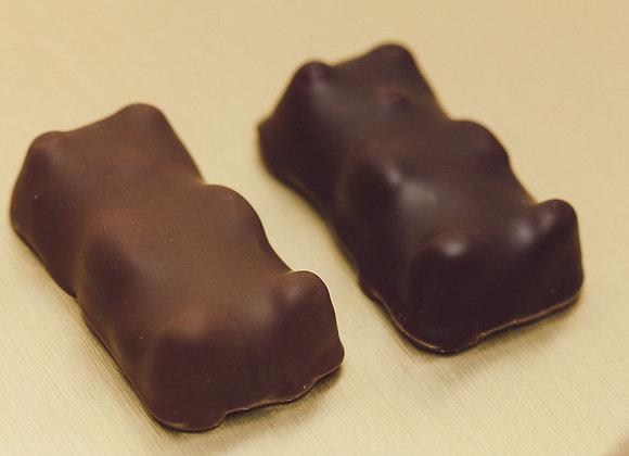 Guimauves en chocolat noir & chocolat au lait