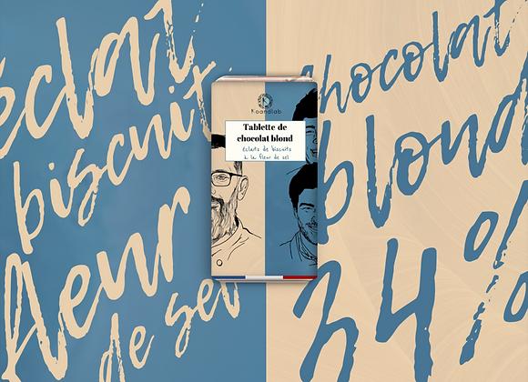 CHOCOLAT BLOND & ECLATS DE BISCUITS À LA FLEUR DE SEL