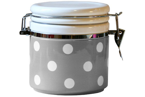 Pot hermétique GROS POIS coloris gris 1 L