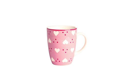 Mug BOLS&CO coeur rose 30cl