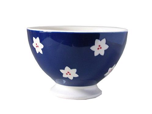 Bol à talon BOLS&CO bleu marine fleur 14,5cm