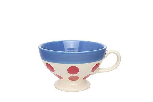 Tasse REVERSO bleu gitane-pois rouge 30cl