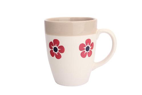 Mug FLORE ficelle 30cl
