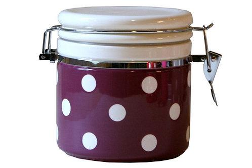 Pot hermétique GROS POIS coloris prune 1 L