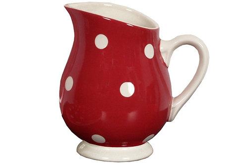 Pichet GROS POIS rouge 1 litre