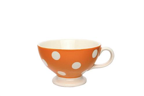 Tasse mini jumbo GROS POIS orange 30cl