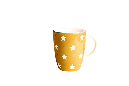 Mug BOLS&CO étoile jaune curry 30cl