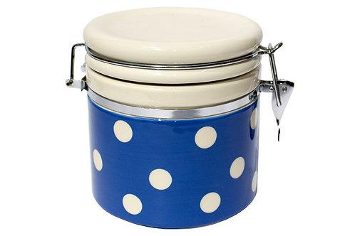 Pot hermétique GROS POIS coloris bleu gitane 1 L