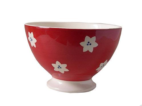 Bol à talon BOLS&CO fleur rouge 14,5cm
