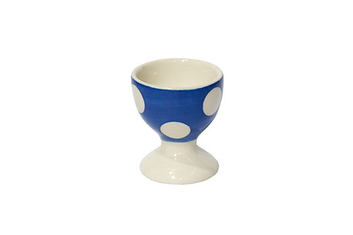 Coquetier GROS POIS bleu gitane