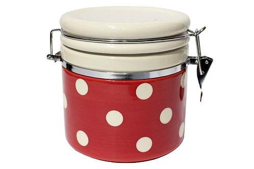 Pot hermétique pois rouge  1 L