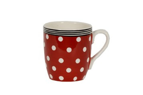 Mug BOLS&CO pois rouge 30cl