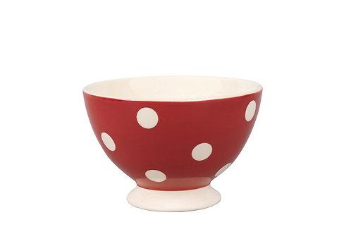 Mini bol GROS POIS  rouge 10cm