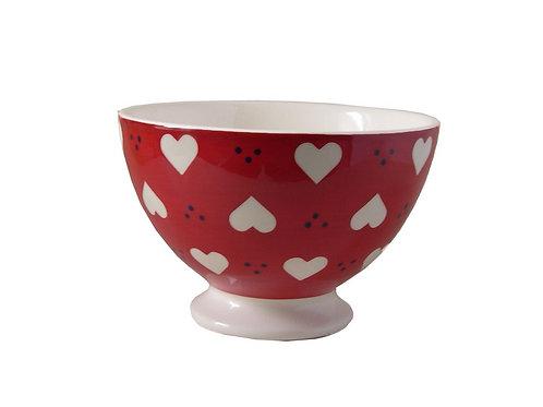 Bol à talon BOLS&CO coeur rouge 14,5cm