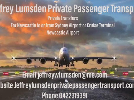 Passenger Transport between Newcastle <> Sydney (Airport or Cruise Ship) / Hunter Valley Wine Tours