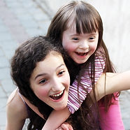Portrait of beautiful young girls outsid