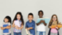Group of Diverse Kids Reading Books Toge