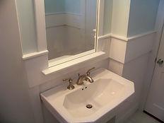Traditional bathroom with custom trim