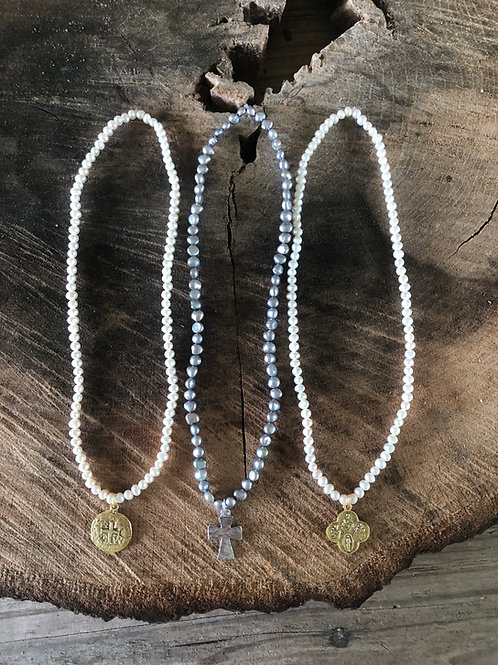 "18"" small pearls with charm"