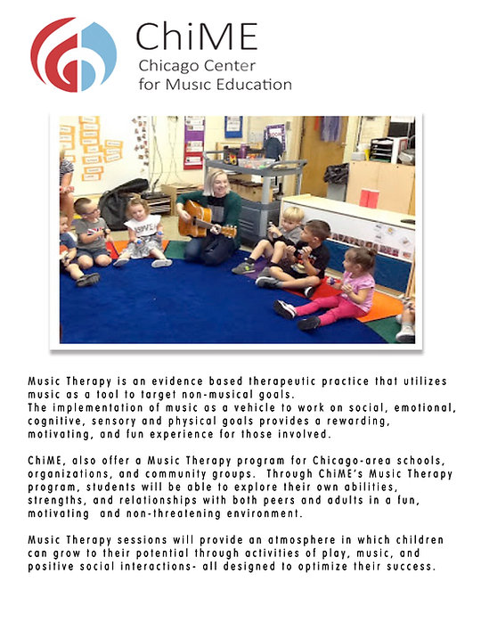 ChiME Music Therapy at Stock School