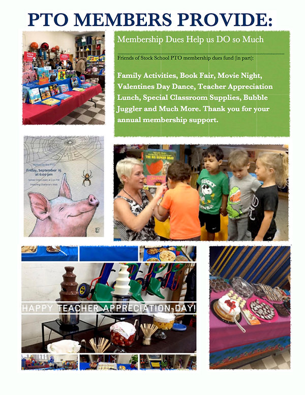 Friends of Stock PTO hosted events