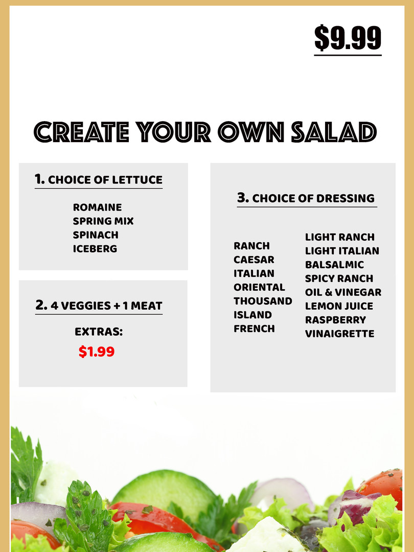 Design your salad your way.