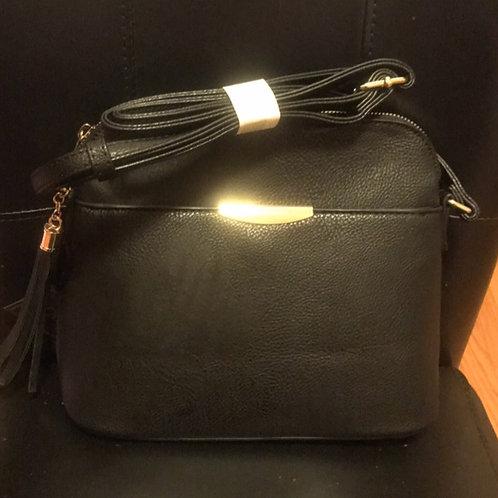 Soft Black Messenger Bag