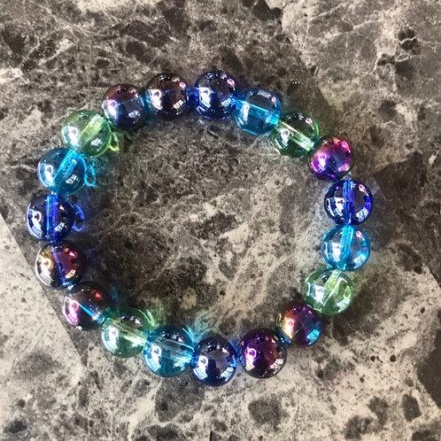 Clear Rainbow Bracelet