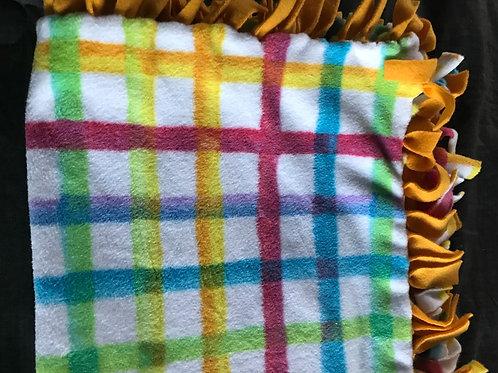 Follow the Line Tie Blanket