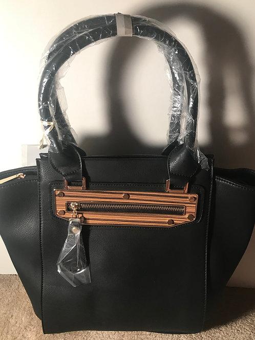 Black wood zipper