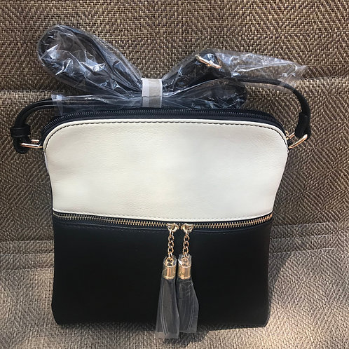 Black and White Messenger Bag