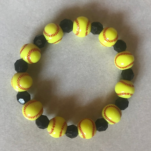 Softball Time Bracelet