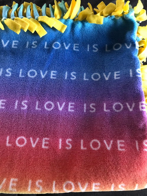 Love Is Love Tie Blanket