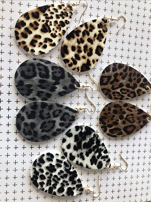 Oval Animal Print Earrings