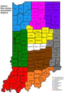 Indiana DJs Regional Map