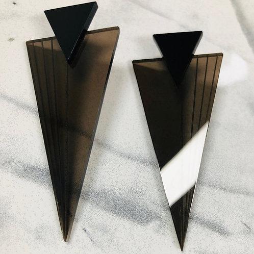 "boucles d'oreilles ""striped triangles"""